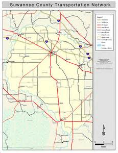 map of suwannee county florida suwannee county road network color 2009
