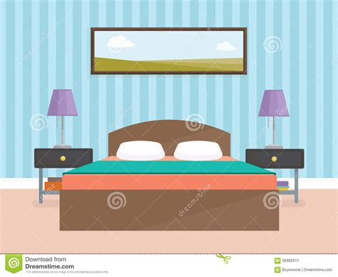 bedroom design vector indoor interior design for modern bedroom flat vector