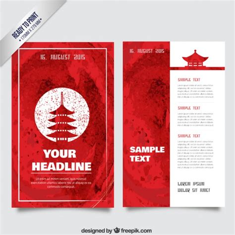 Flyer Design Japan | watercolor japanese flyer vector free download