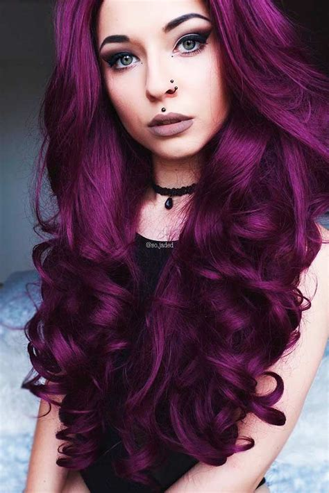 purple black hair color best 25 plum hair ideas on plum hair