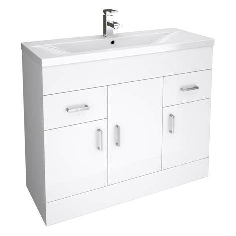 white bathroom cloakroom storage vanity unit cabinet