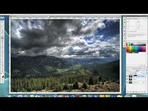 photoshop tutorial landscape editing youtube