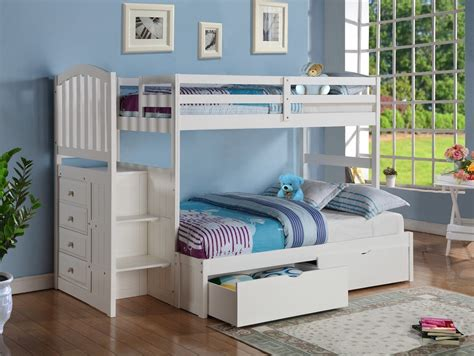 girl bunk beds with stairs bedroom pink and white solid wood bunk bed for girl