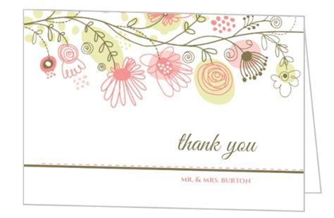 zocalo gift card spring floral border thank you card wedding thank you cards