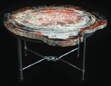 Wood and Stone : Petrified Wood Coffee Table @ Toklat