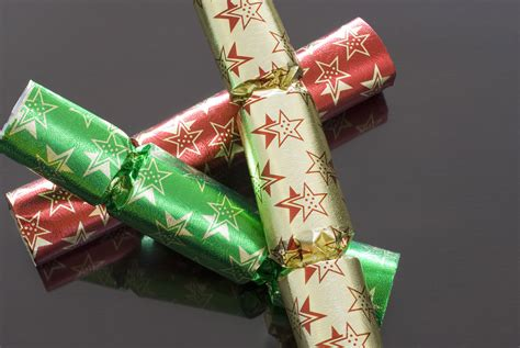 christmas cracker decorations images photo of three crackers free images