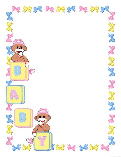 baby shower borders clip baby clipart template pages new born baby shower