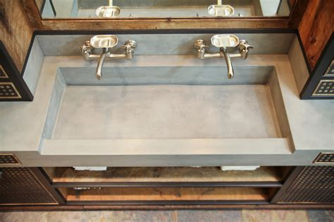 industrial bathroom sink da concrete sink and custom vanity industrial bathroom