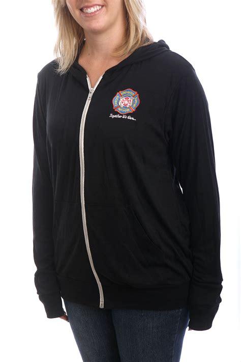 Hoodie Zipper Black s black zip up hoodie firefighter cancer support