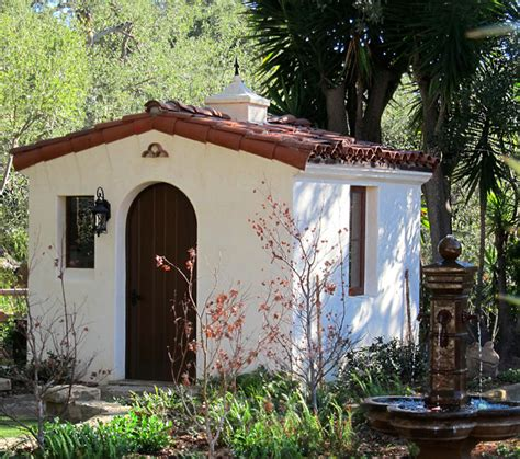style your she shed spanish style she shed jeff doubet santa barbara home