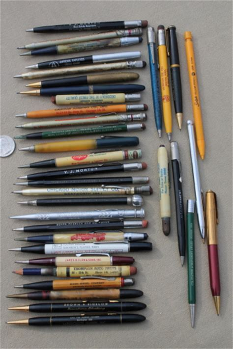 big lots pencil vintage mechanical pencils lot of vintage advertising pencils empire co du pont