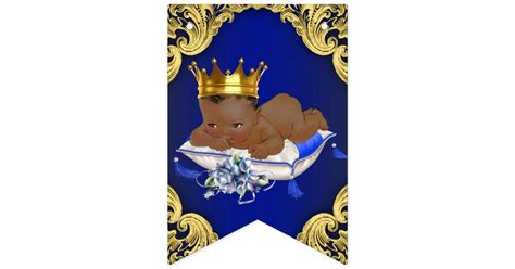 prince ethnic background american royal prince baby shower bunting flags