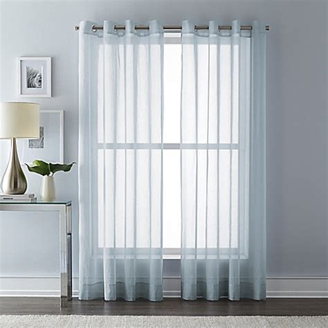 108 inch sheer curtains buy wamsutta 108 inch grommet top sheer window curtain