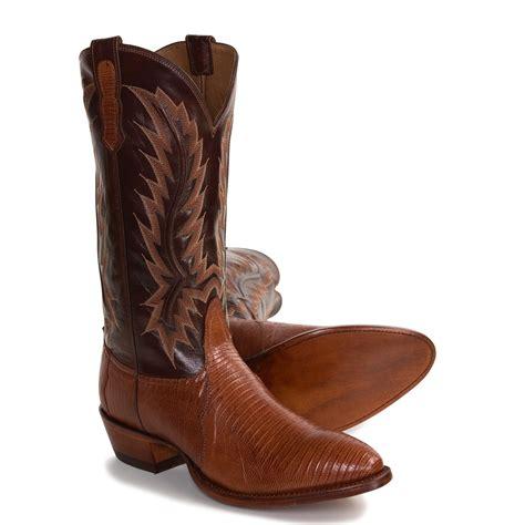 lizard boots nocona teju lizard skin cowboy boots for 2495y