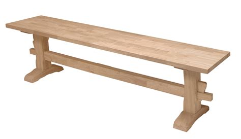 unfinished furniture bench unfinished trestle bench 72 quot x 14 quot x 17 1 2 quot h wwbe72t