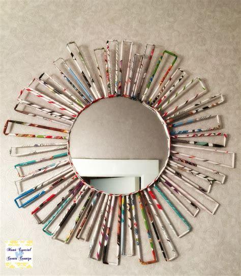 decorar un espejo con papel manualidades con papel de peri 243 dico 11 ideas creativas