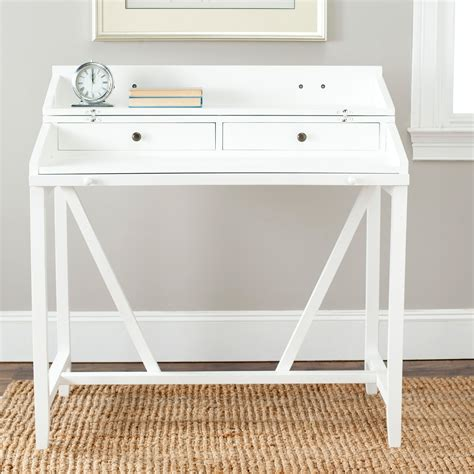 safavieh wyatt writing desk white desks at hayneedle