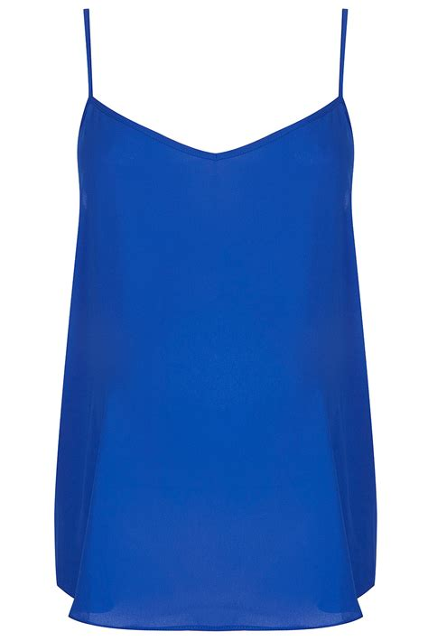 Blue Top lyst topshop maternity strappy cami top in blue