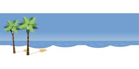 beach transparent vector gratis playa palmas oc 233 ano blanco imagen