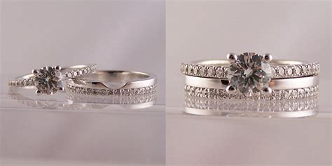 wedding band that fits around engagement ring