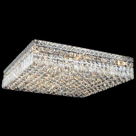 Elegant Lighting 2032F24C/EC Crystal Maxime Square Flush