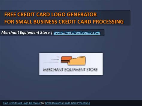 Credit Card Template Generator Free Credit Card Logo Generator For Small Business Credit Card Proces