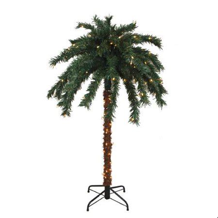 tropical lighted christmas tree 6 pre lit tropical outdoor summer patio palm tree clear lights walmart