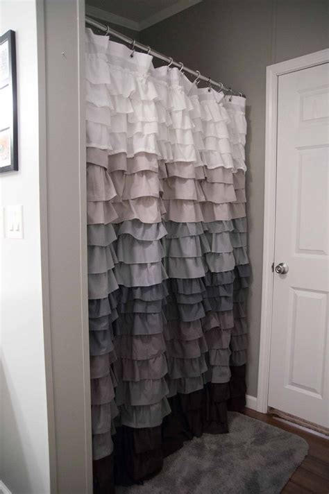 shower curtains with ruffles ruffle shower curtain bathrooms pinterest
