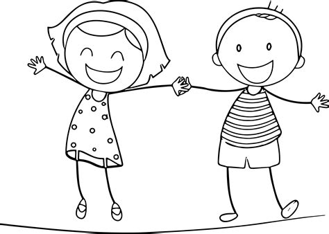 Download Coloring Pages Girl Coloring Page Girl Coloring Coloring Page Boy And