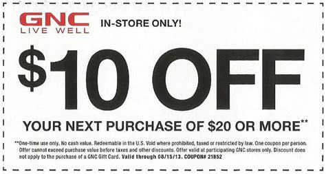 i supplements coupon code gnc coupons 2013 autos post