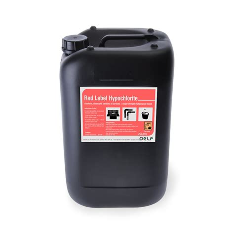 hypochlorite solution label 25ltr