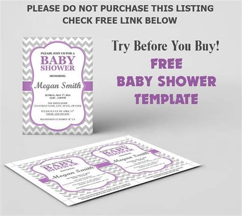 free baby shower invitation template diy by