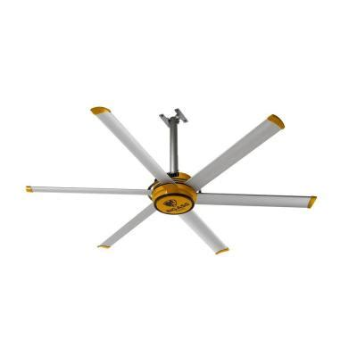yellow ceiling fan big fans 2025 7 ft yellow and silver aluminum shop