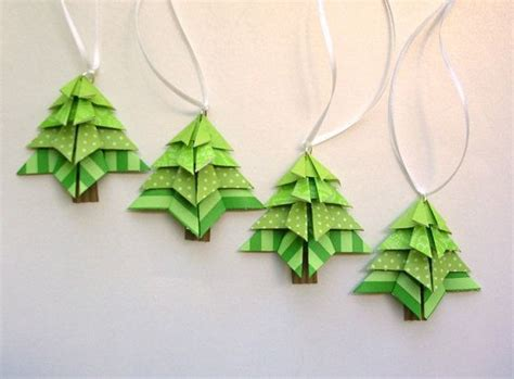 Origami Tree Ornaments - origami tree tags ornaments
