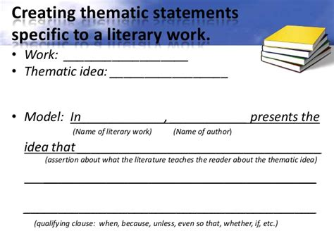 theme statement definition literature finding themes in literature ppt