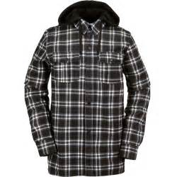 black and white patterned ski jacket volcom field bonded flannel snowboard jacket black and