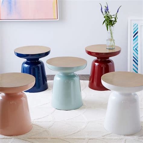 martini side martini two tone side table west elm