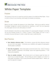 White Paper Template by White Paper Template