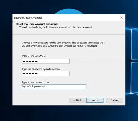 reset windows vista password with reset disk reset password with password reset disk on windows 8 10