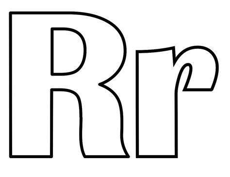 Alphabet R Clipart Best Free Coloring Sheets For Kids L