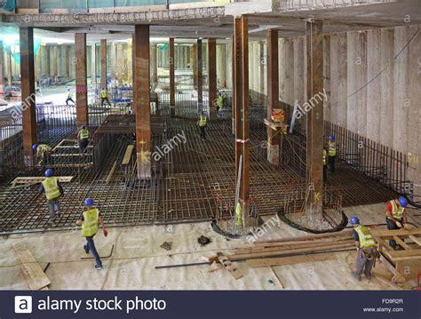 Construction Of A Reinforced Concrete Basement Floor Slab Concrete Basement Construction