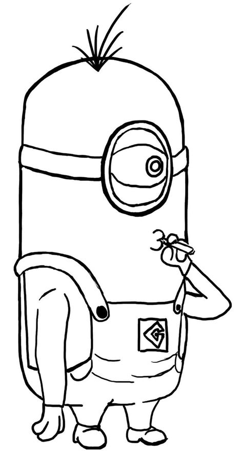 coloring pages minions movie 11 best kleurplaten minions images on pinterest