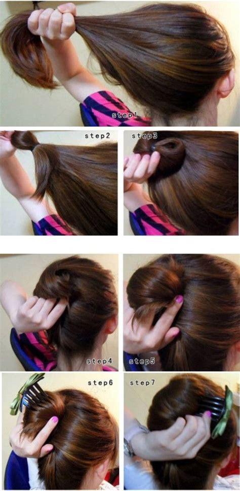 how to diy easy and elegant bun hairstyle icreativeideas hair simple elegant bun tutorial hair tastic pinterest