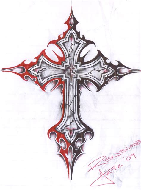 evil cross tattoo cross by insomnosis on deviantart