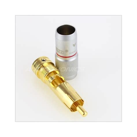 Rca Gold Set 436 eizz ez 203 gold plated tellurium copper cinch rca copper 216 9mm set x4 audiophonics