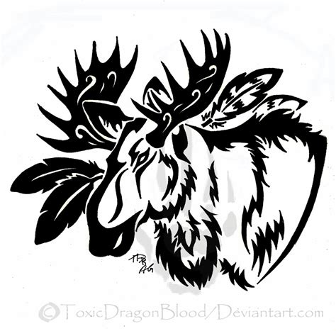tribal moose www imgkid the image kid has it