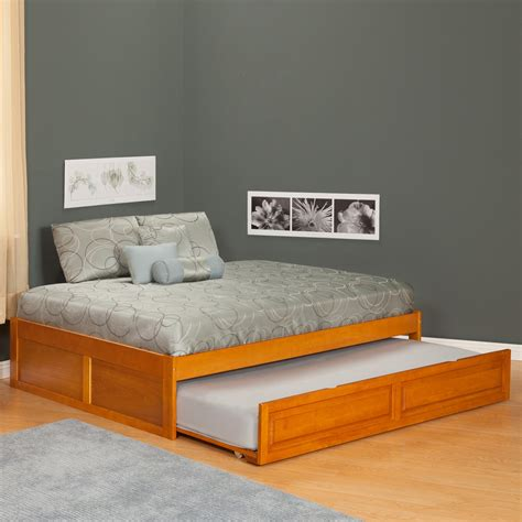 king size trundle bed size of a king mattress wooden trundle frame with pillow