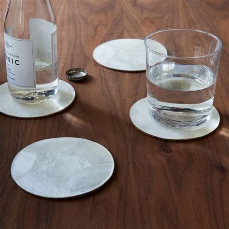 Limited Souvenir Chandelier Miror Coasters Wj43 capiz coasters set of 4 west elm
