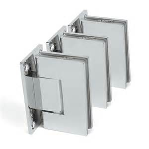 frameless pivot shower door hinge 90 degree wall to glass