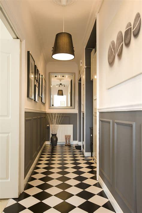 search  beauty tiled hallway white hallway black